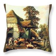 A Farm In Kent Throw Pillow