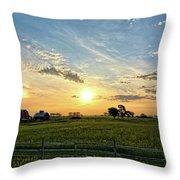 A Farmer's Morning 2 Throw Pillow