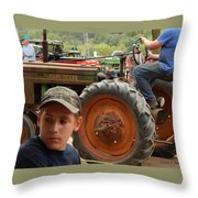 A Farmer's Son Throw Pillow