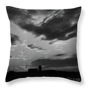 A Farmer's Sunrise Throw Pillow