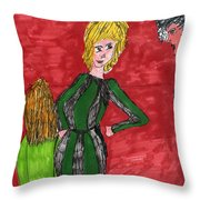 A Fashion Kick  Throw Pillow