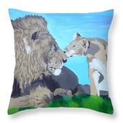 A Father's Pride Throw Pillow