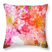 A February Abstract Throw Pillow