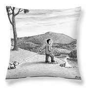 A Feeble Adventurer Throw Pillow
