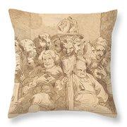 A Fellow Of Maudlin Throw Pillow