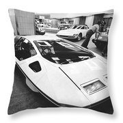 A Ferrari Modulo At Auto Show Throw Pillow