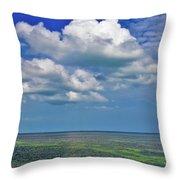 A Few Clouds In Keywest Throw Pillow