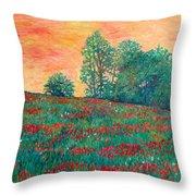 Field Of Beauty Throw Pillow