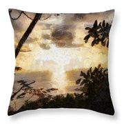 A Fiery Sunset Throw Pillow