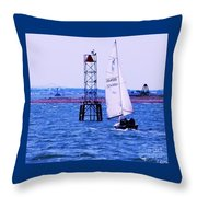 A Fine Day For A Sail Throw Pillow