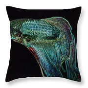 A Fish Called Poe 2 Throw Pillow
