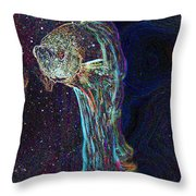 A Fish Called Poe Throw Pillow