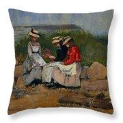 A Fisherman's Daughter Throw Pillow