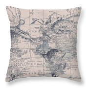 A Fishermans Map Throw Pillow
