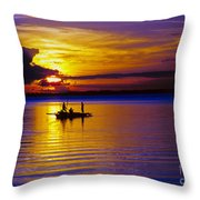 A Fisherman's Sunset  Throw Pillow