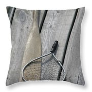 A Fisherman's Tools Throw Pillow