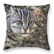 A Fishing Cat Portrait Throw Pillow