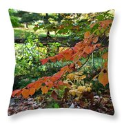 A Flame In The Forest Throw Pillow