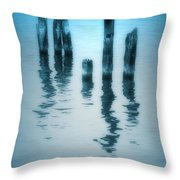 A Fleeting Blue Throw Pillow