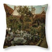 A Flemish Garden Throw Pillow