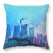 A Flock Of Seagulls Throw Pillow