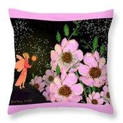 A Flower Fairy Throw Pillow
