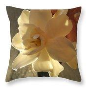 A Flower In Hand Beats.... Throw Pillow