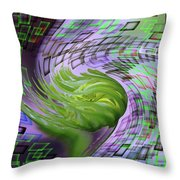 A Flower In The Sound Of Wind  Throw Pillow