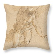 A Flying Angel Throw Pillow