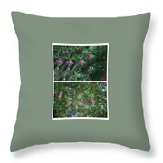 A Flys View Of A Flower  Throw Pillow