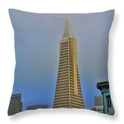 A Foggytrans American Building Throw Pillow