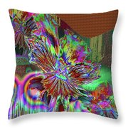 A Foiled Pansy Throw Pillow