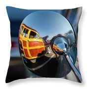 A Ford Woody Throw Pillow
