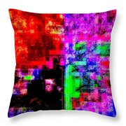 A Forest Of Abstraction Throw Pillow