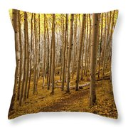 A Forest Of Aspens Throw Pillow