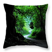 A Forest Trail Throw Pillow