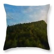 A Forested Dune... Throw Pillow