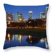 A Fort Worth Night Throw Pillow