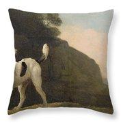A Foxhound Throw Pillow