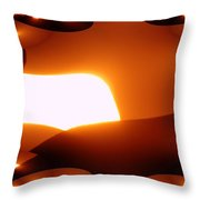 A Fractual Sunrise  Throw Pillow