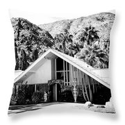 A Frame Bw Palm Springs Throw Pillow