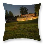 A Frank Lloyd Wright Home On Lake Champlain Throw Pillow