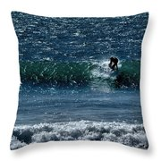 A Free Ride Throw Pillow