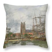 A French Port Throw Pillow
