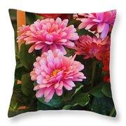 A Fresh Bouquet Throw Pillow