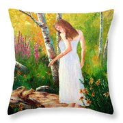 A Friendly Greeting Throw Pillow