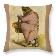 A Frog In An Overcoat Throw Pillow