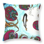 A Frog's Sky View Throw Pillow