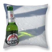 A Frosty Beck's Throw Pillow