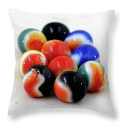 A Fun Game Of Marbles Throw Pillow